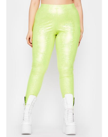 Totally Nuclear Waves Metallic Leggings