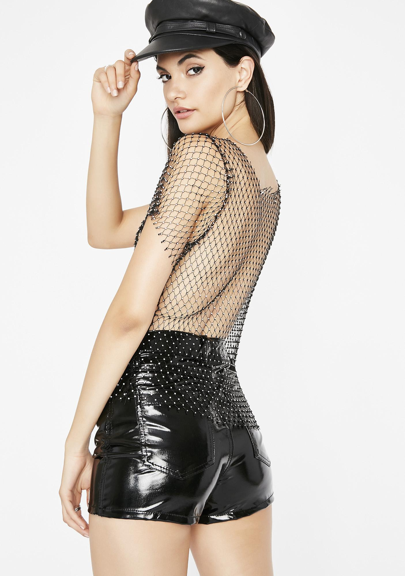 Shine Brighter Mesh Top