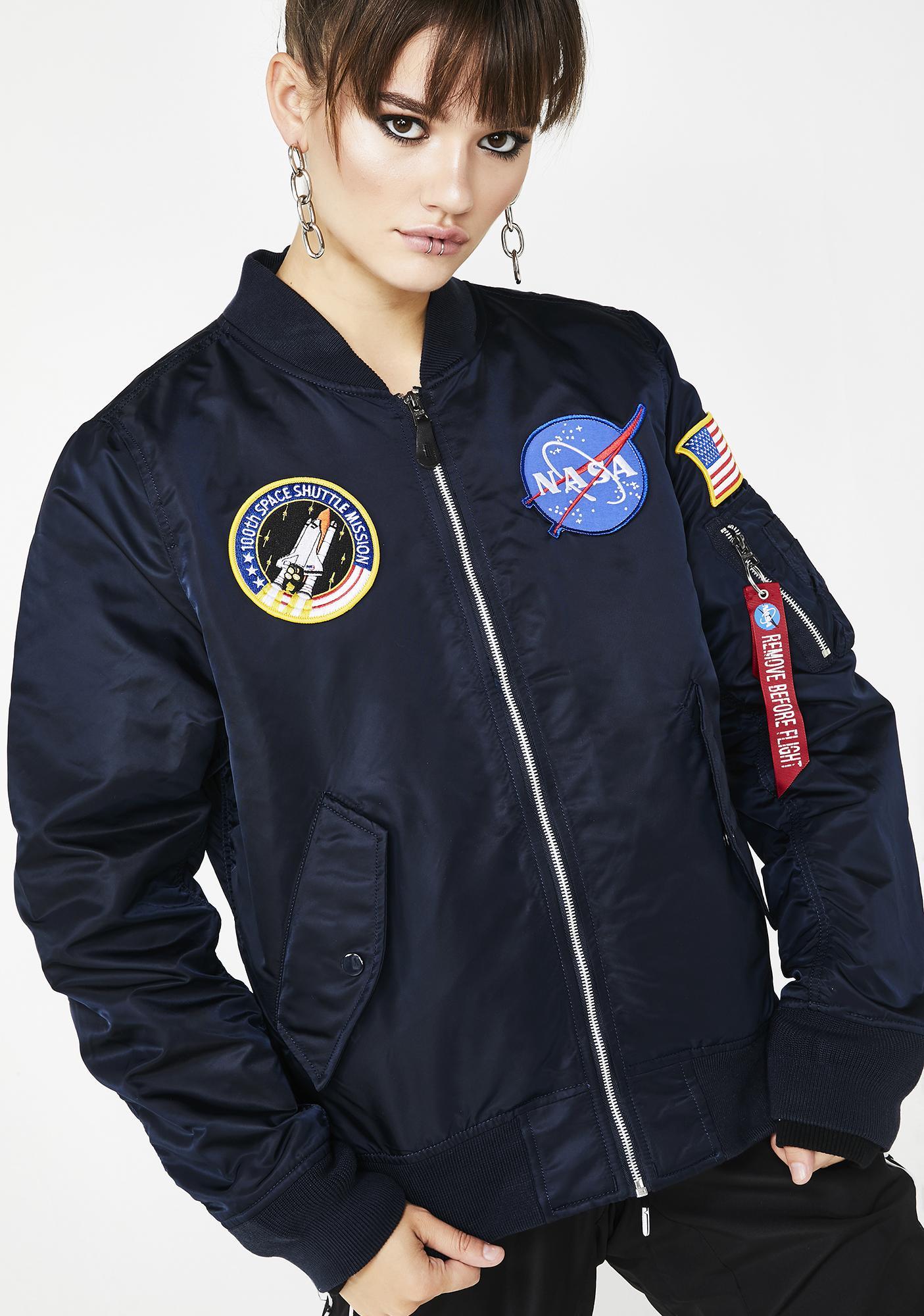 52a44b58b30 Alpha Industries L-2B NASA Flight Jacket | Dolls Kill