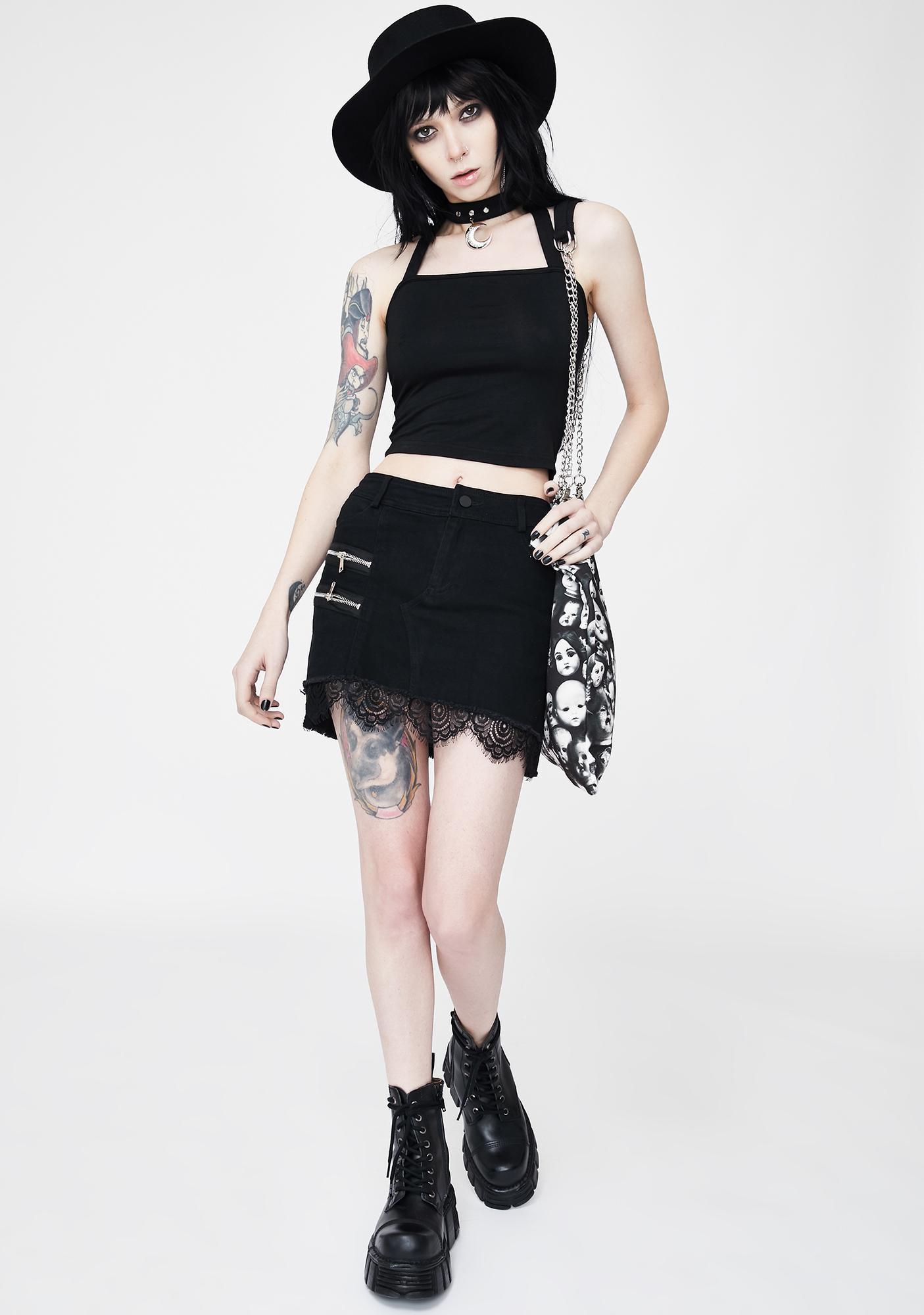 Punk Rave Punk Pendant Halter Top
