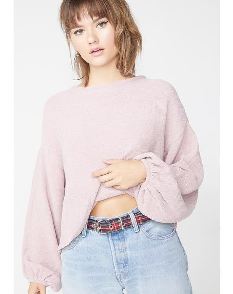 Champagne Deep Thinkin Knit Sweater
