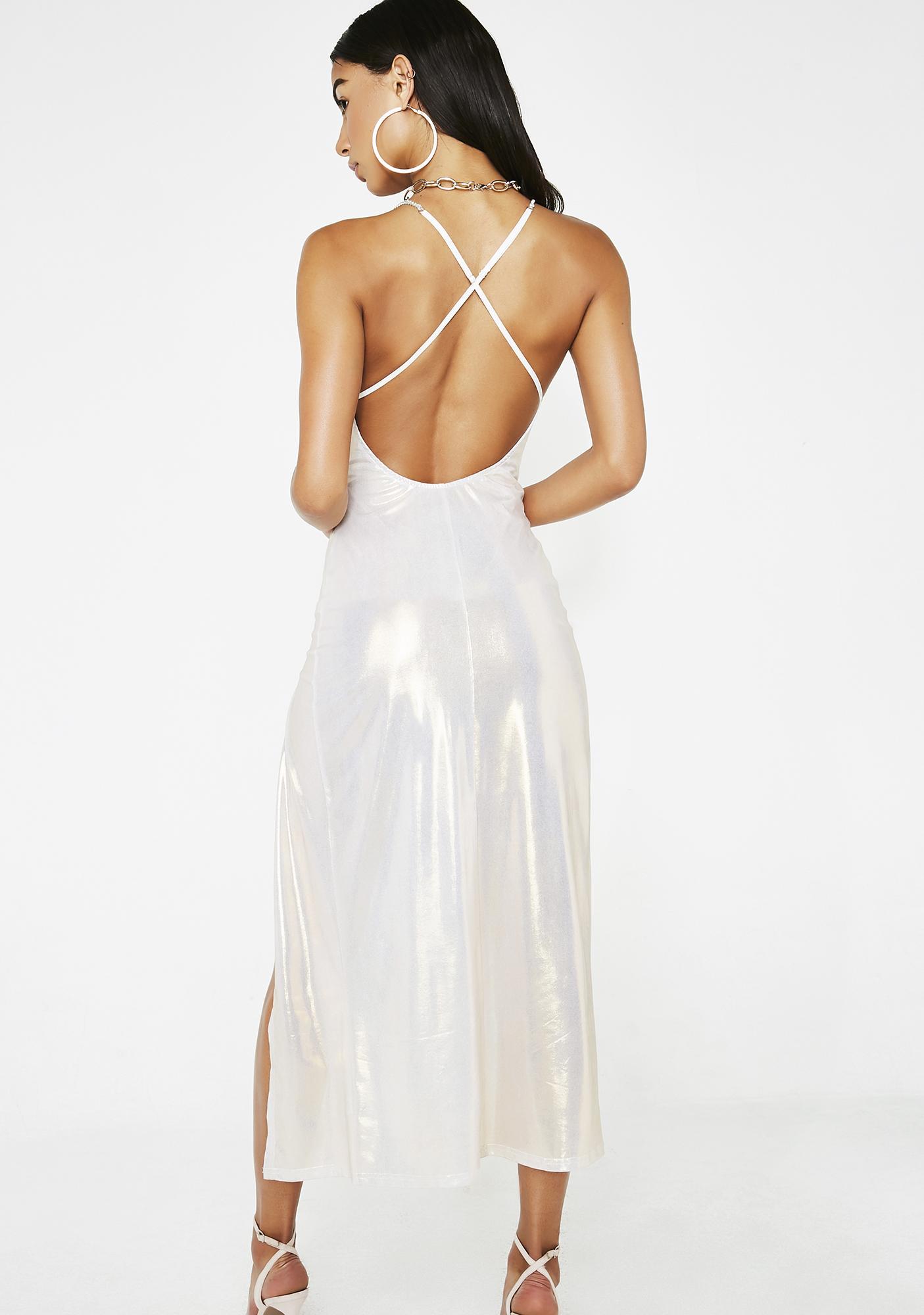 Poster Grl Young Mula Metallic Dress