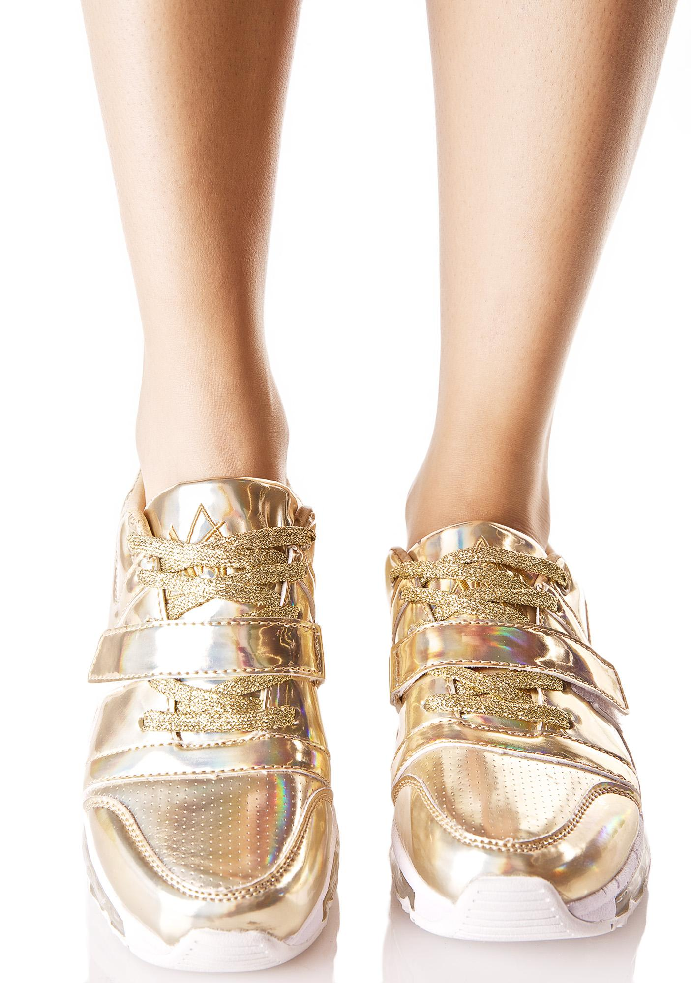 f50b5239618c15 Y.R.U. Golden Aiire Light-Up Sneakers