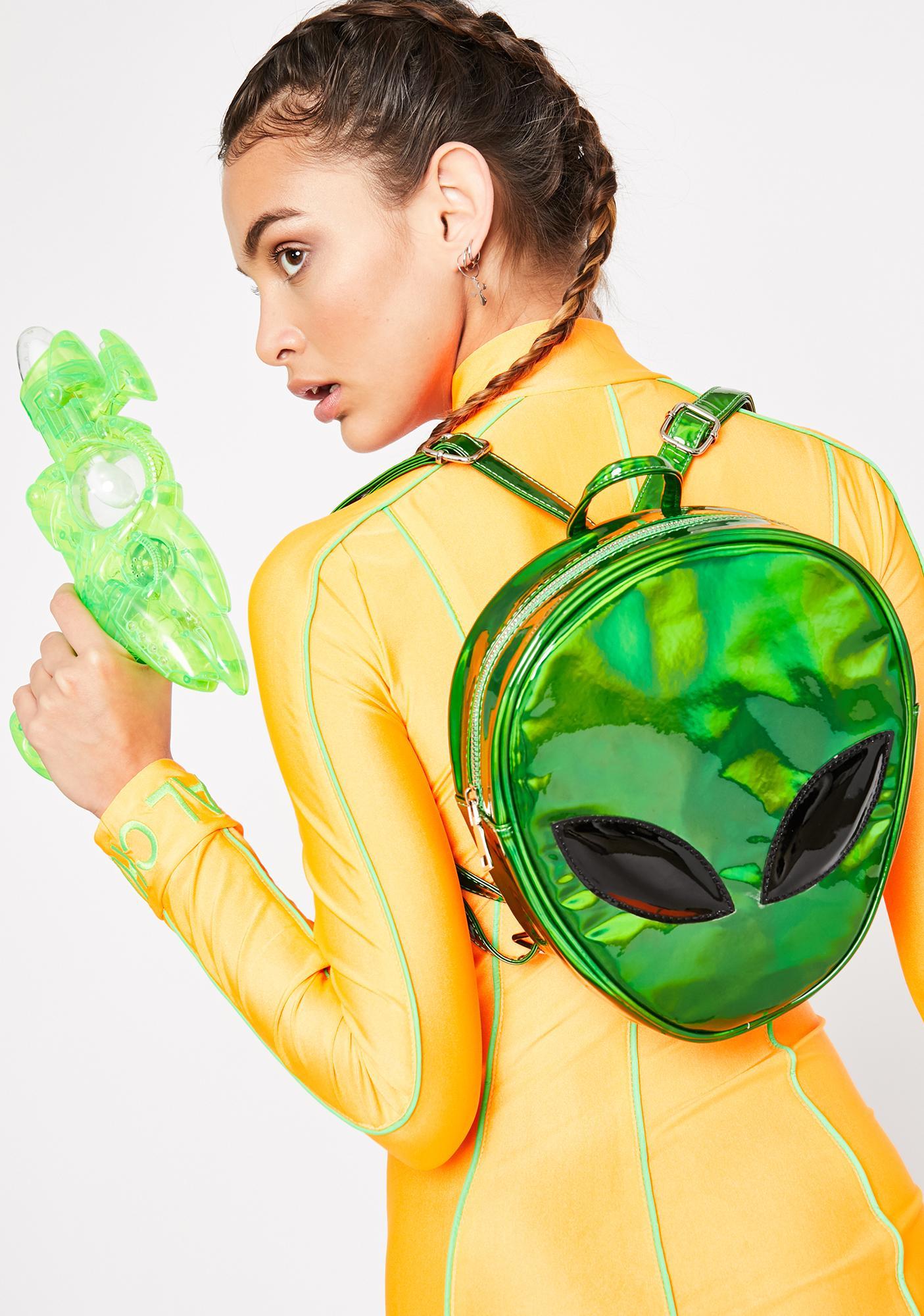 Emerald Alien Transform Backpack by