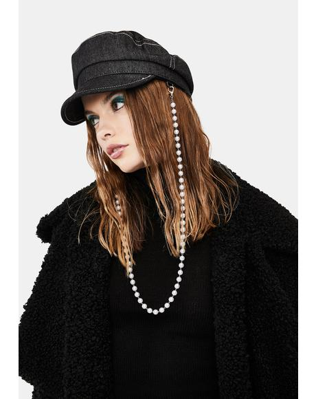 Ride It Out Pearl Chain Hat