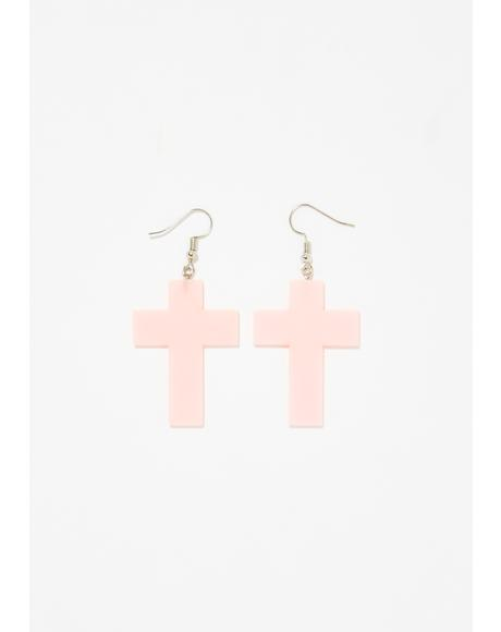 BB Angel Cross Earrings