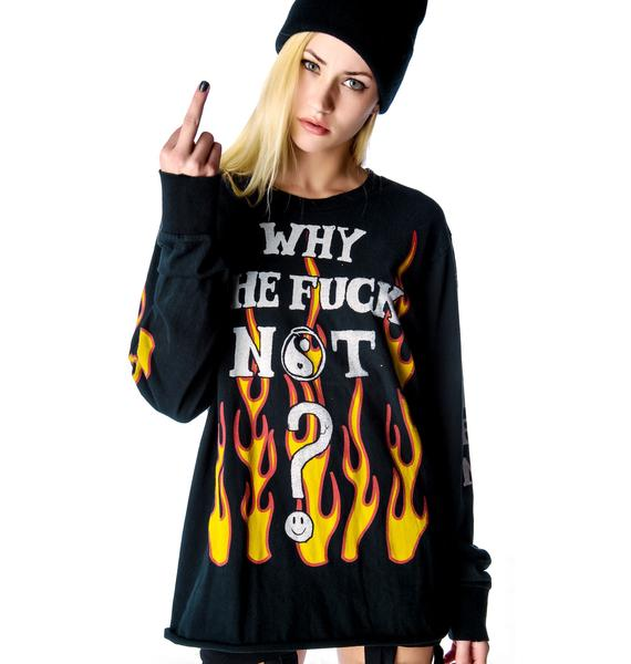 UNIF Why the F Not Long Sleeve Tee