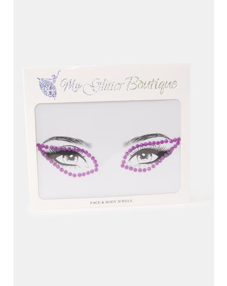 Purple Rhinestone Eye Gem Pack