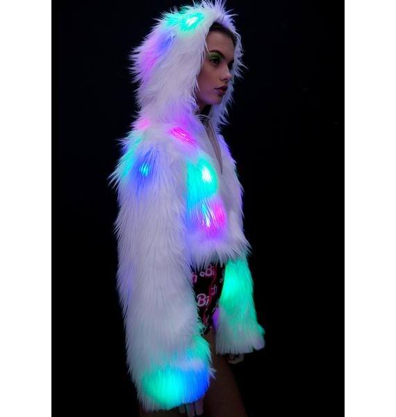 J Valentine Flashing Lights Cropped Jacket