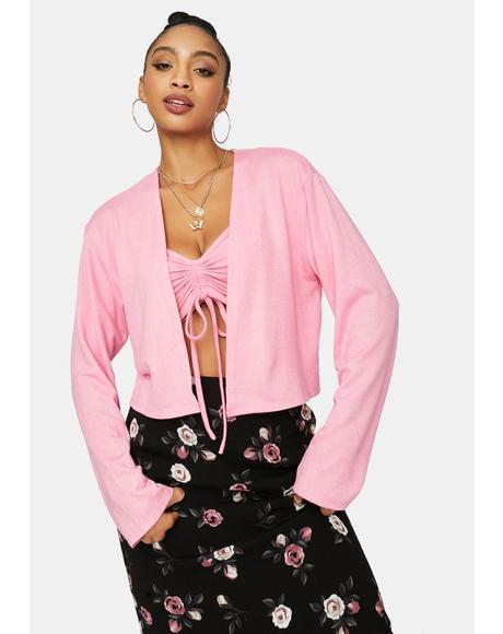 Make 'Em Blush Cardigan Set
