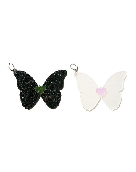 Glitter Butterfly Earrings