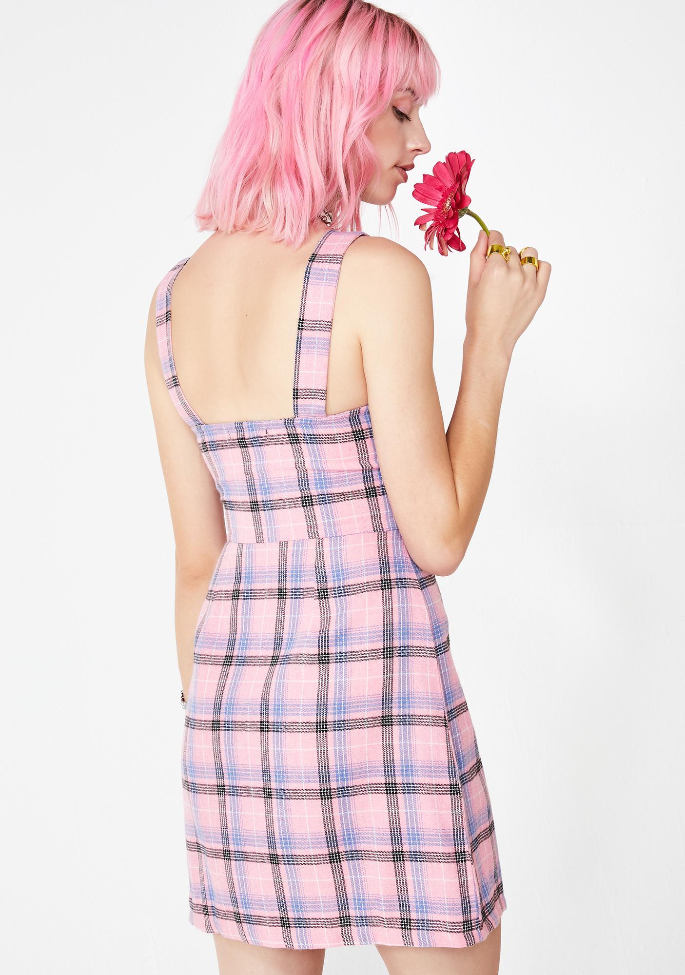 Daisy Street Retro Check Wide Strap Cami Dress