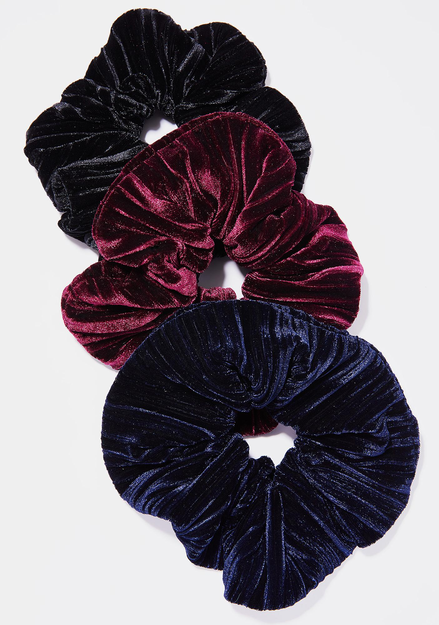 Midnight Velvet Bun Scrunchie