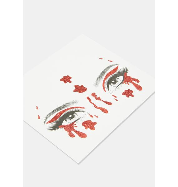 Blood Face Stickers