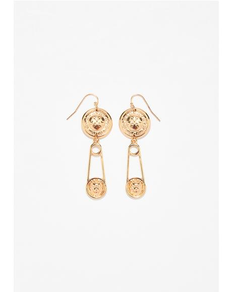 Born Savage Lion Earrings