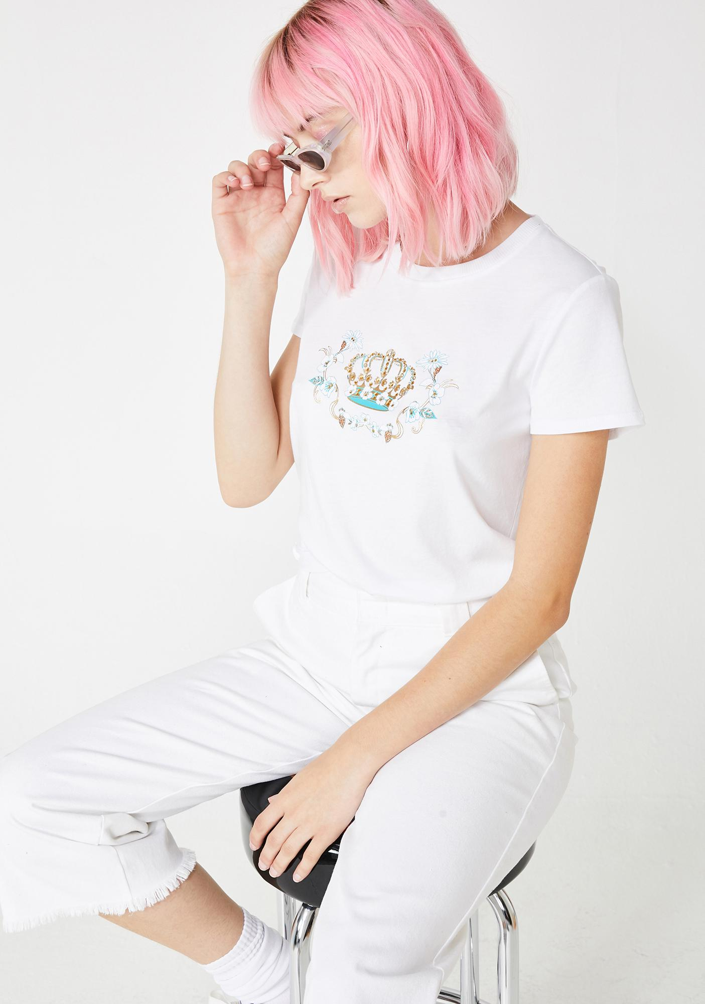 JUICY COUTURE Crowned Jewel Graphic Tee