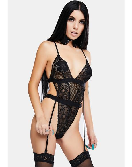 Cuddle Culture Lace Strappy Teddy