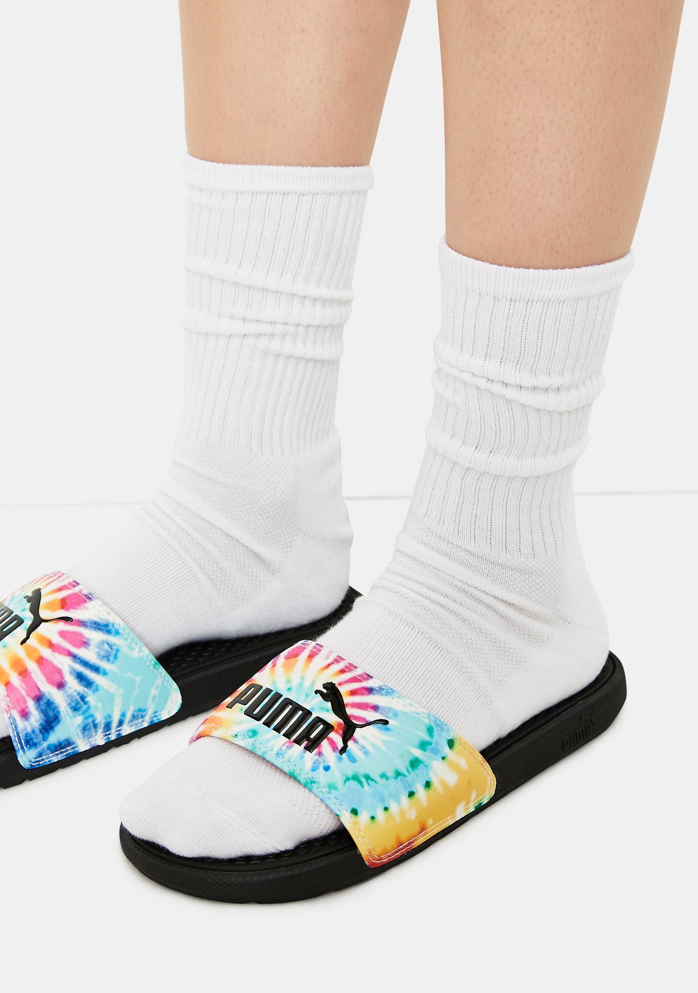 PUMA Tie Dye Cool Cat Women's Slides