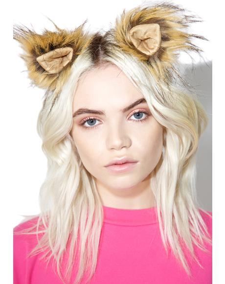 Blond Wildcat Clip In Ears