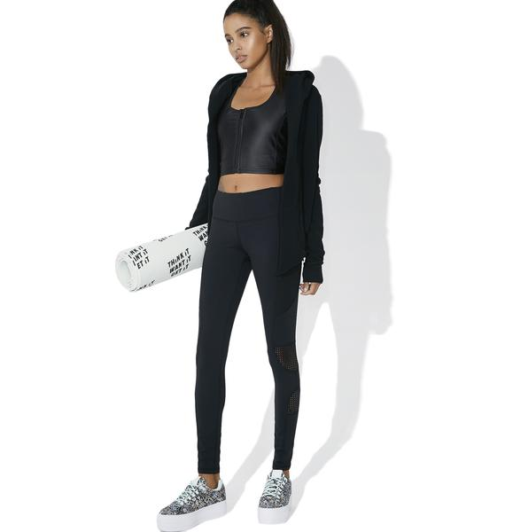On The Move Mesh Panel Leggings