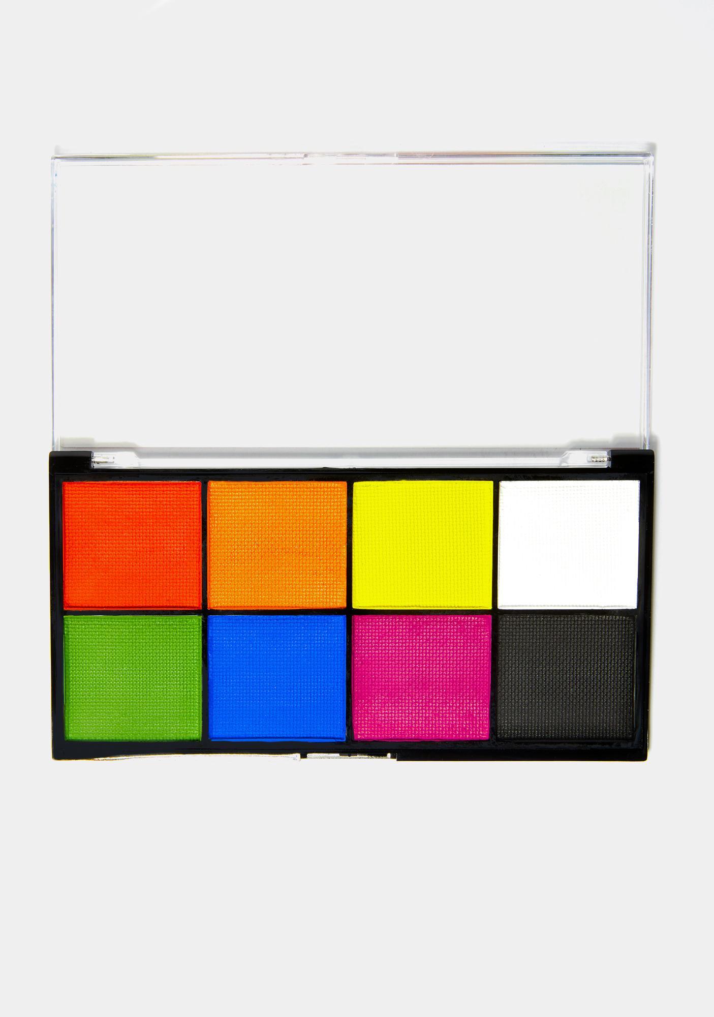 Chaotic Cosmetics Retro Rainbow Hydro Eyeshadow Palette