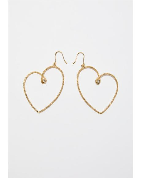 Tough Love Heart Earrings