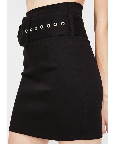 Straight Vicious Mini Skirt