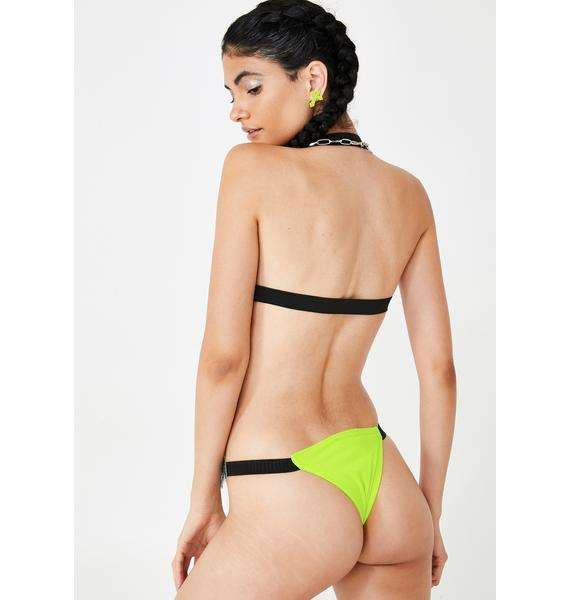 Plugged NYC Neon Alexa Cut Out Bodysuit