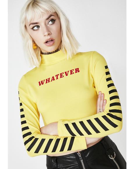 Whatever Long Sleeve Crop Top