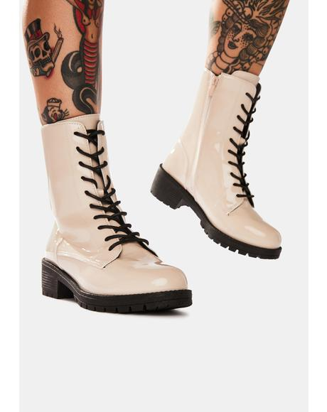 We Meet Again Combat Boots
