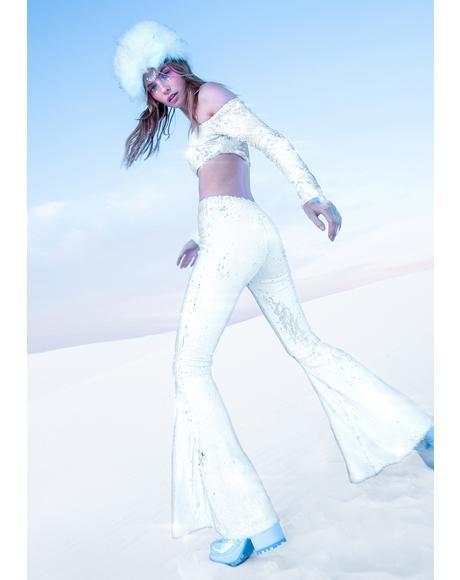 Miss Primetime Sequin Flares