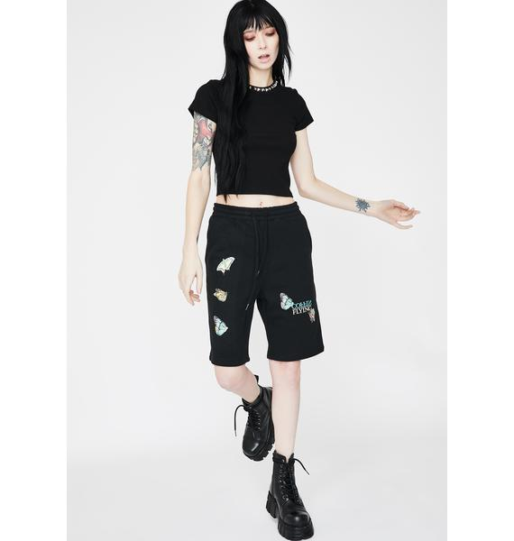Flying Coffin Insecta Graphic Sweat Shorts