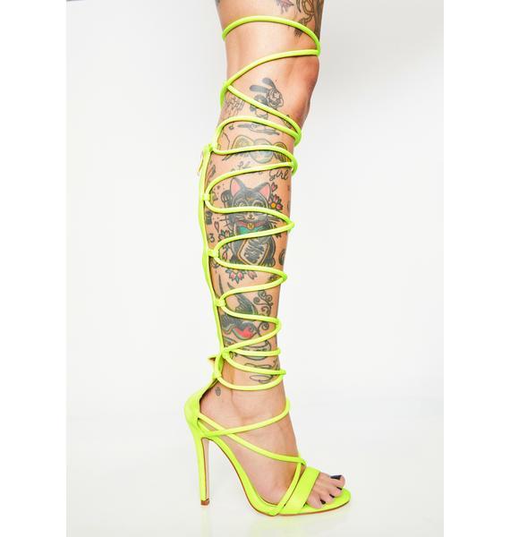 AZALEA WANG Honey Don't Babe Me Lace Up Heels