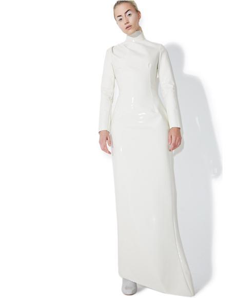 Creme PVC Dress
