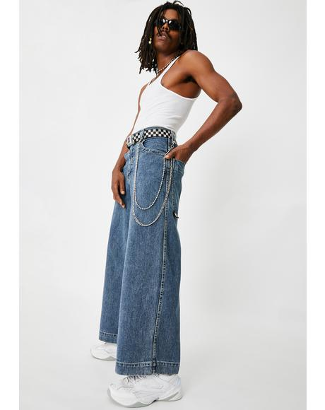 101 Twin Cannon Wide Leg Jeans