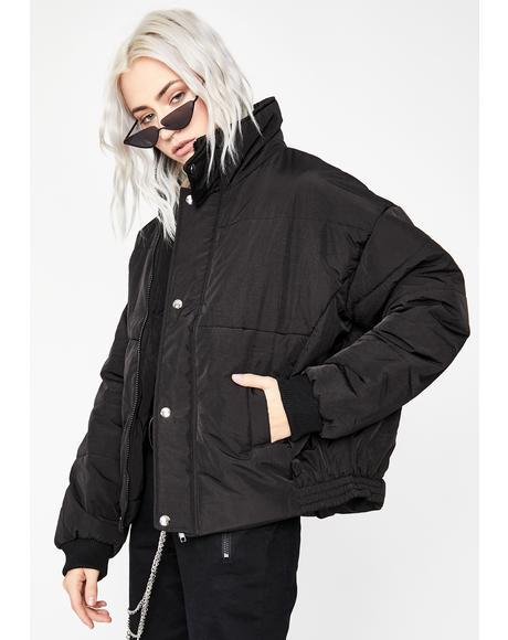 Onyx Glacier Gangsta Puffer Jacket