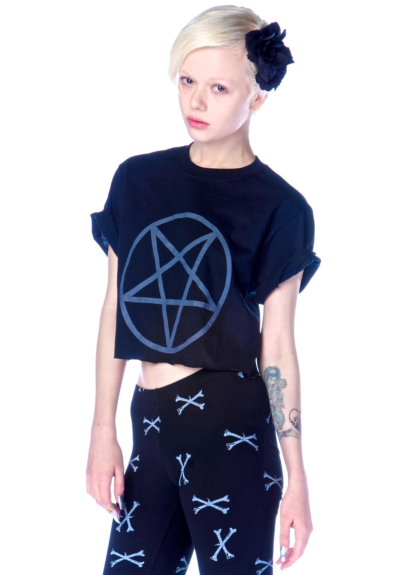 Shop W.A.S. Pentagram Crop Tee