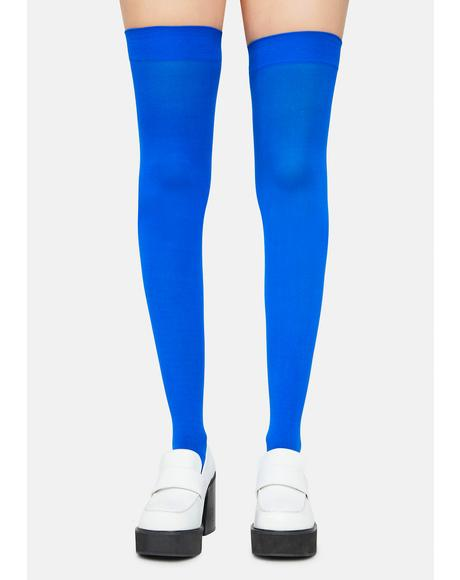 Cobalt Angel Of Mine Sheer Thigh Highs