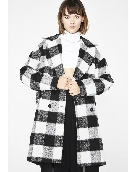 Checkin' DMs Checkered Coat