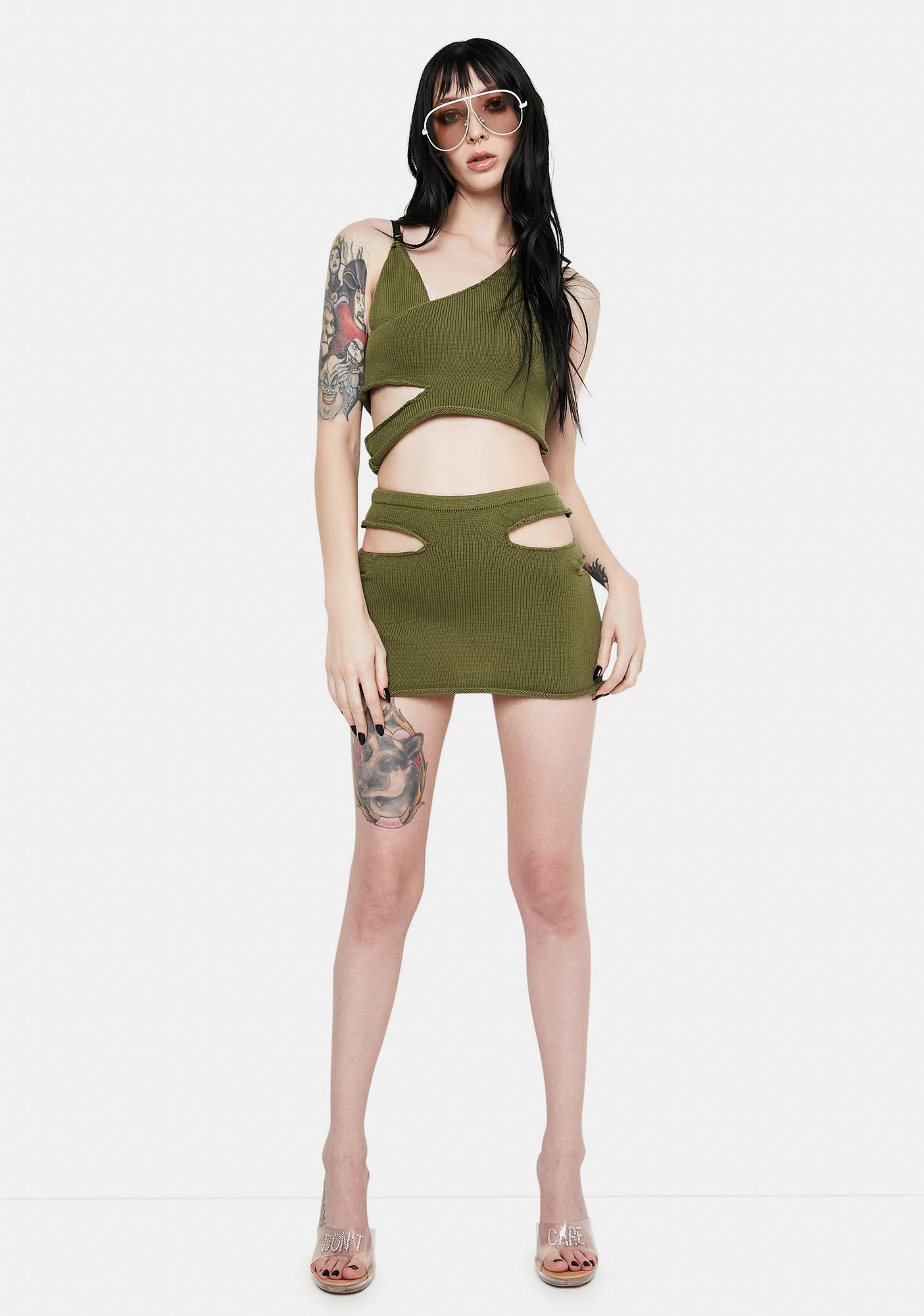 Nii HAi x PCL Cutout Mini Skirt