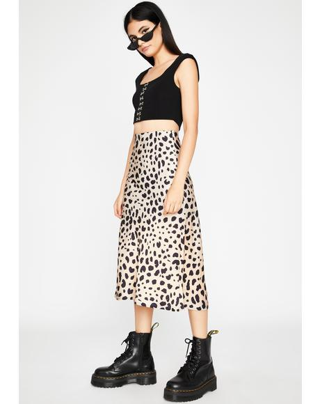 Prowlin' Downtown Midi Skirt