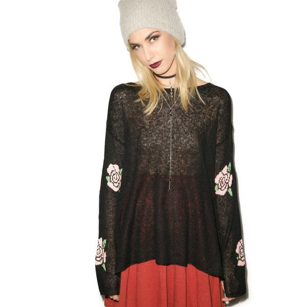 Wildfox Couture Painting The Roses Roadie Sweater