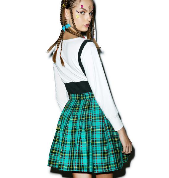 Reality Bites Charm Plaid Skirt