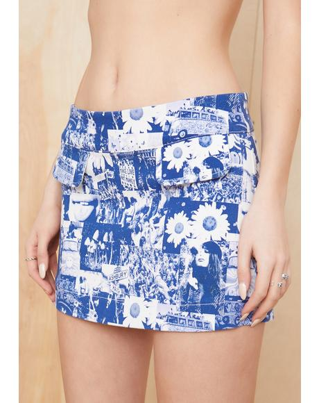 Blissed Out Mini Skirt
