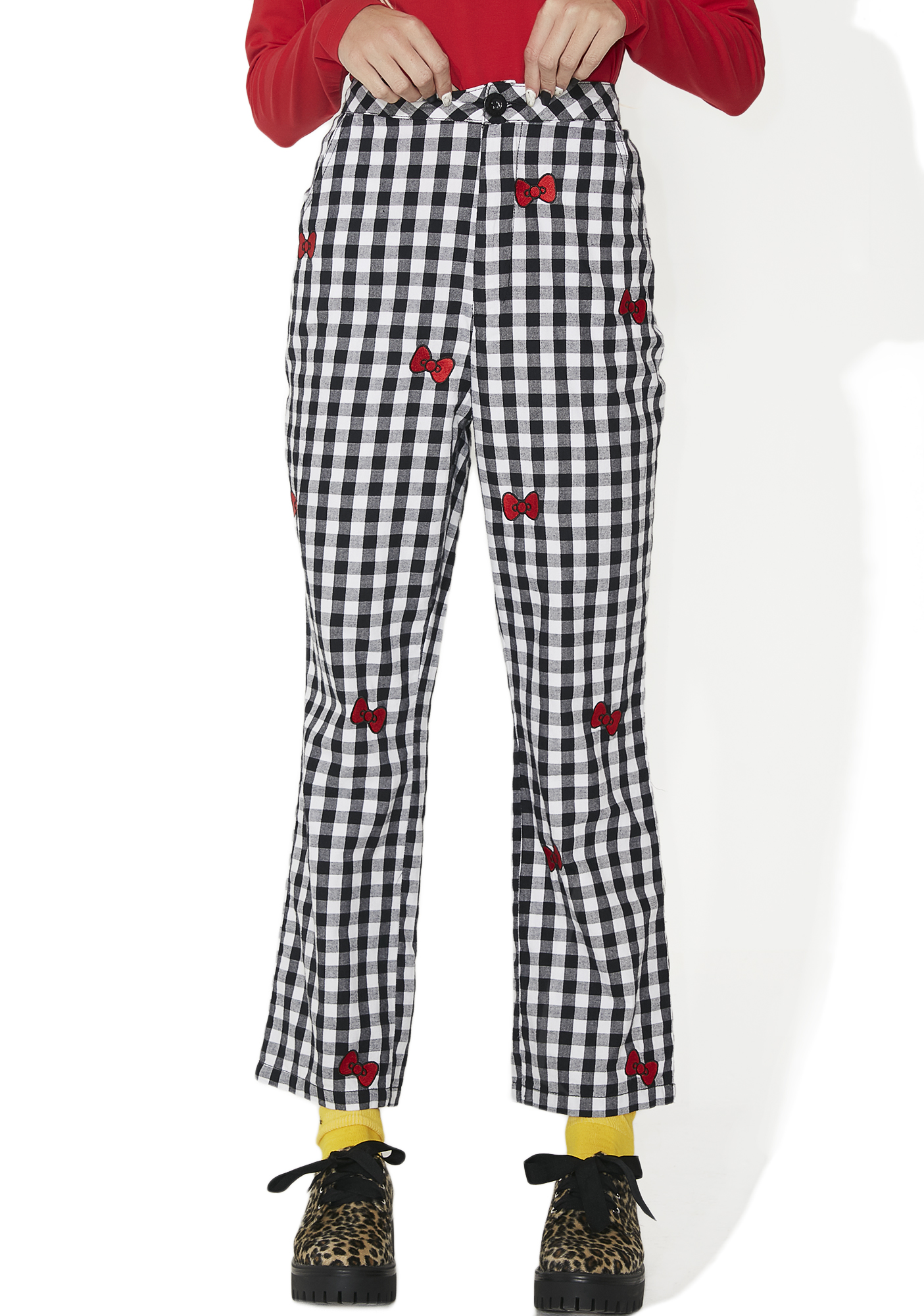 Lazy Oaf Hello Kitty Bow Gingham Trousers