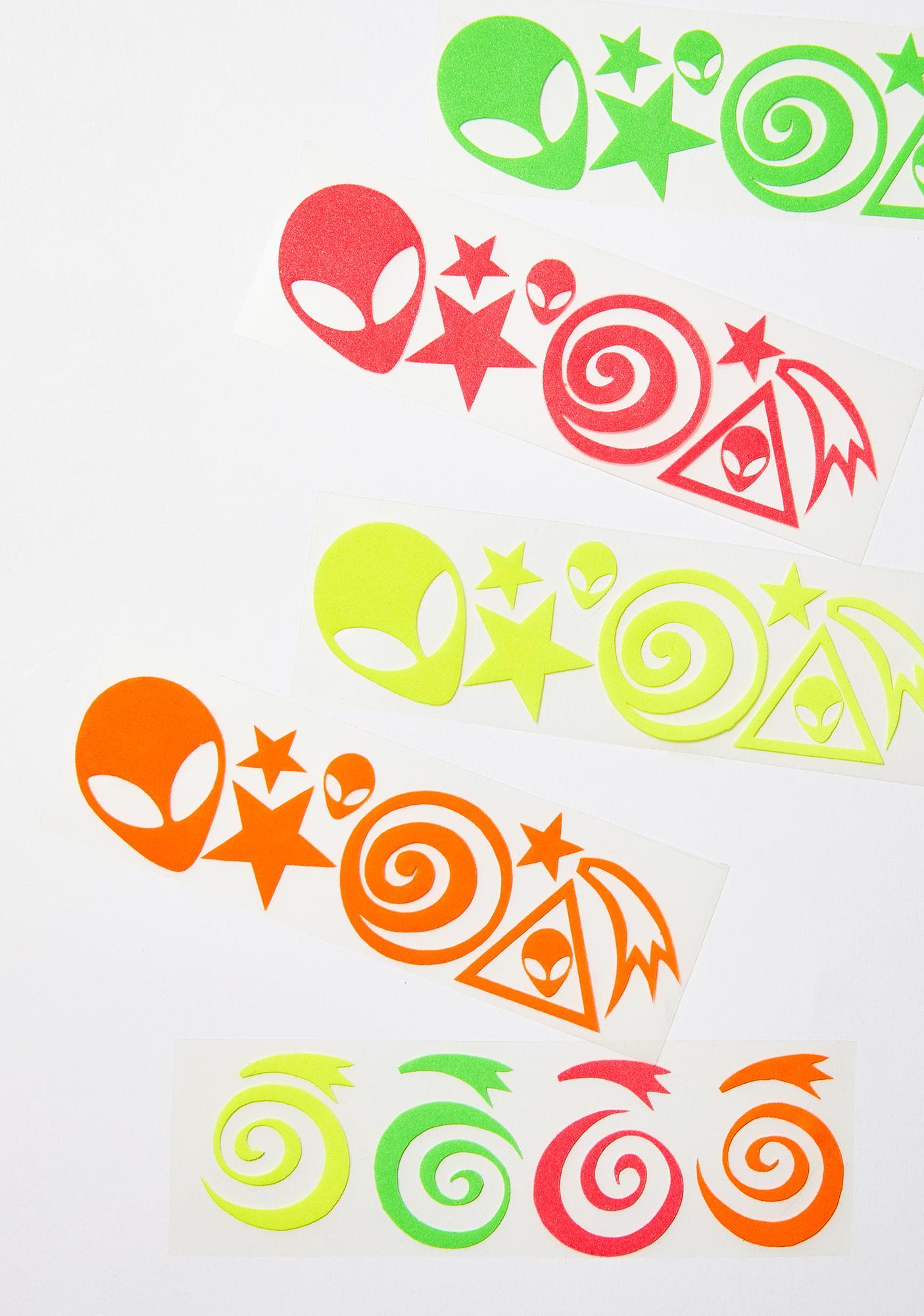 Sasswear Blacklight Alien Body Stickers