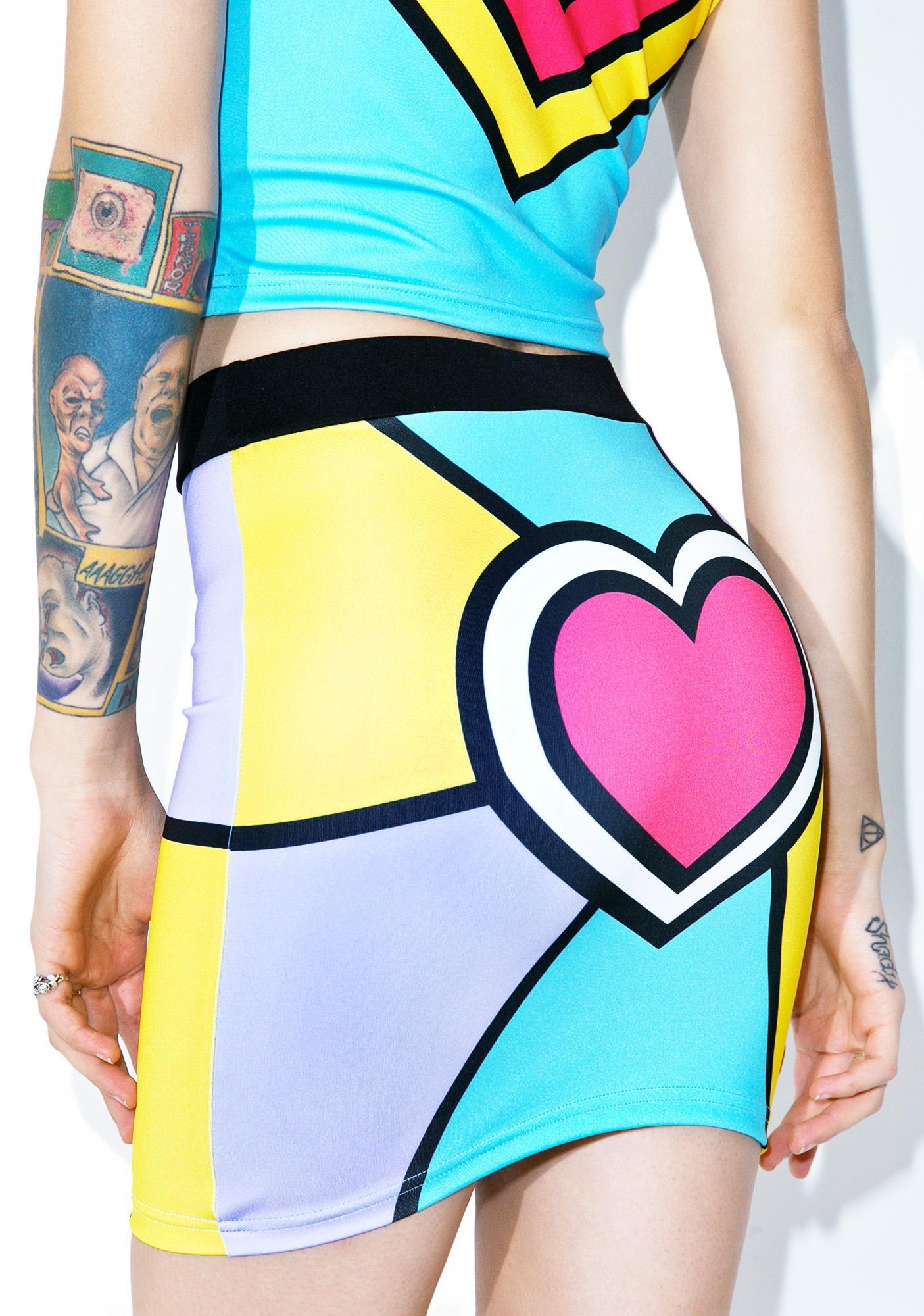 Nympha Electric Love Mini Skirt