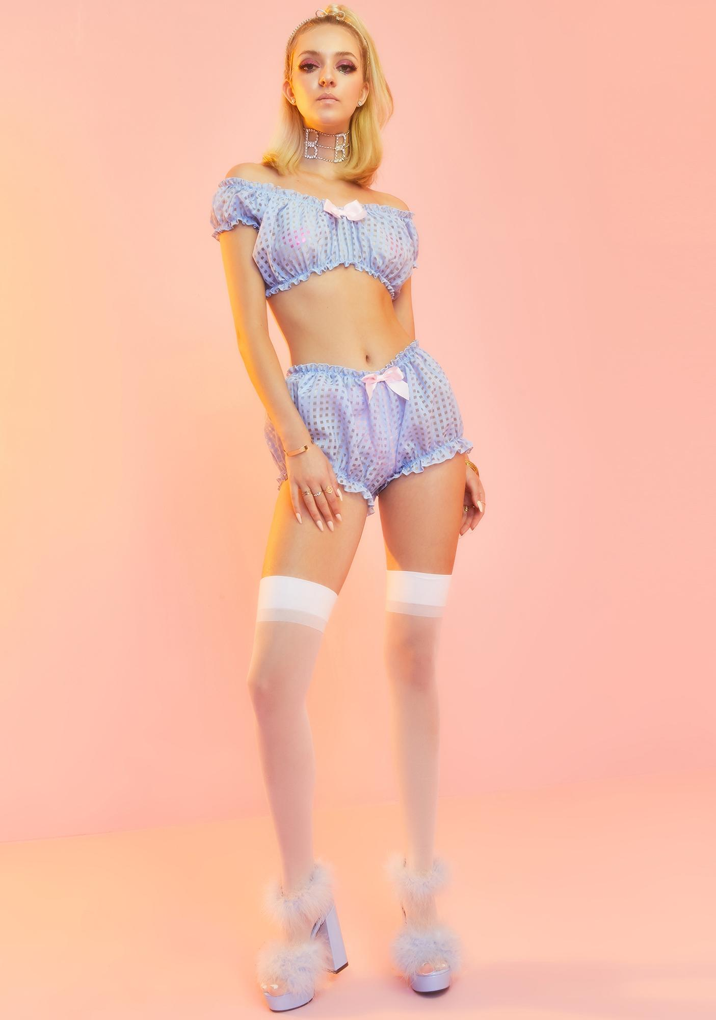 Sugar Thrillz In The Boudoir Gingham Bloomers