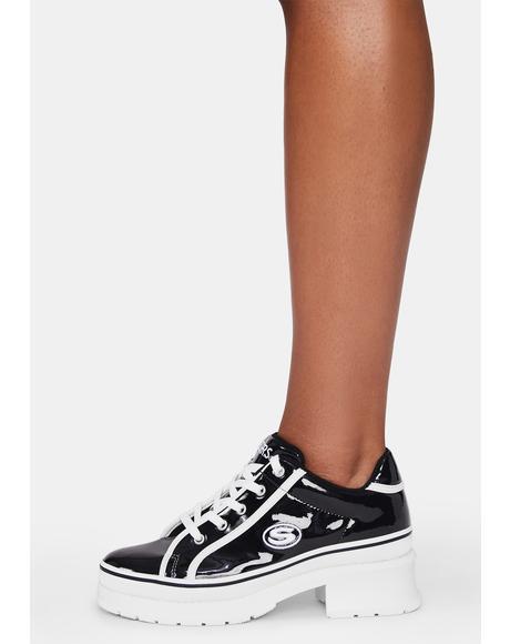 Black Heartbeat Loud Sneakers