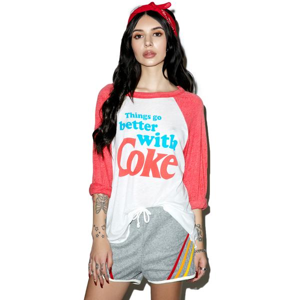 Wildfox Couture Go Better With Coke Rebel Raglan